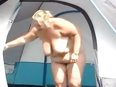 Camping BBW adult shows it all.mp4
