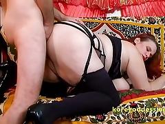 Her boyfriend destroys her bore