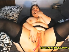 BBW Latin MILF Enjoys Deep Fixed Anal And Pussy Fuck