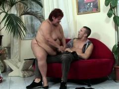 Horny big woman seduced their way man and fucked