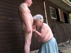Grandma bloes and wanks beamy dick
