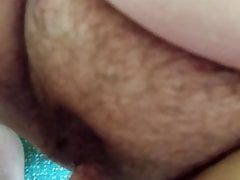 Making out a hairy BBW