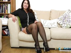 EuropeMaturE Solitary Mature Lady and Her Fantasies