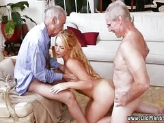 Old hairy big man increased by young girl Frannkie And Dramatize expunge Gang Tag Team Mature Fuck Session