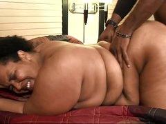 Big black beautiful milf prostitute wanna enjoy black load of shit in her fat pussy long cum