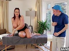 Biggest stepmom emma booty chastise bonks her wussy stepson