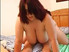 BBW Redhead mature women fucks with young man