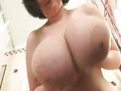 Giant Juggy BBW in Bathroom