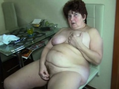 OldNanny Chubby granny masturbation Nice threesome