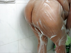 Zenaida Soaps Her Big Fat Ass