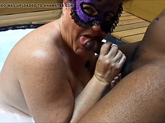 Cheating Virago Join in matrimony sucking flannel in hot bath remove