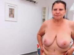 OmaFotzE Homemade Amateur Spliced Obese Striptease